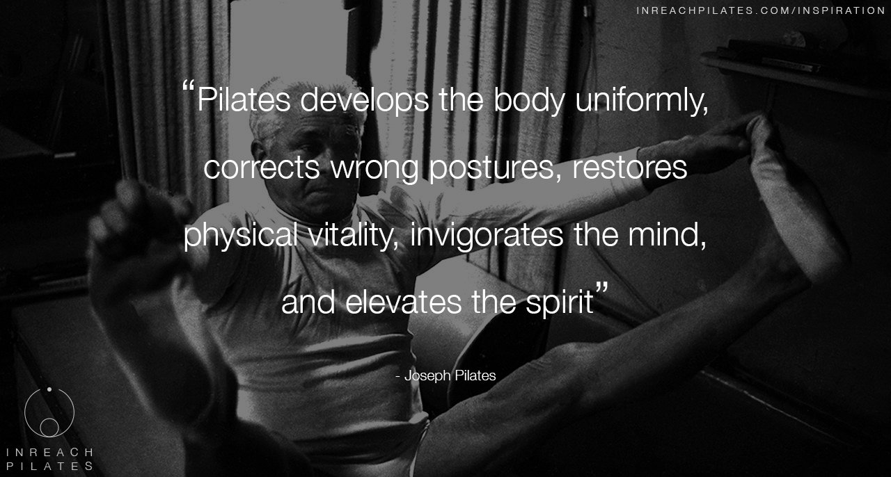 Pilates develops the body uniformly - Joseph Pilates quote