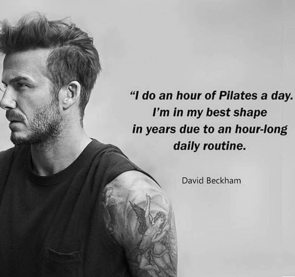 David Beckham Pilates Routine